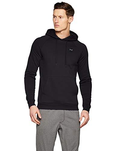 Under Armour Men's Rival Fleece Pullover Hoodie , Black (001)/Black , Large