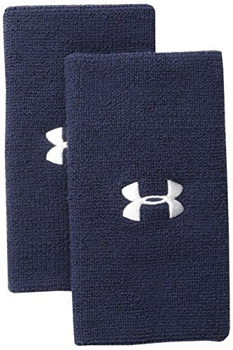 Under Armour Adult 6-inch Performance Wristband 2-Pack , Midnight Navy
