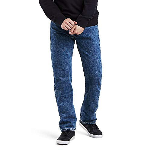 Levi's Men's 505 Regular Fit Jeans, Medium Stonewash, 34W x 32L