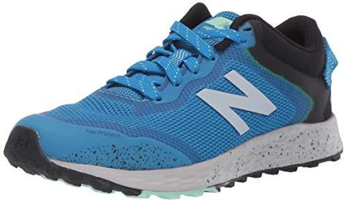 New Balance Kid's Fresh Foam Arishi Trail V1 Lace-Up Running Shoe, Neo Classic Blue/Black/Hula Green, 13 W US Little Kid