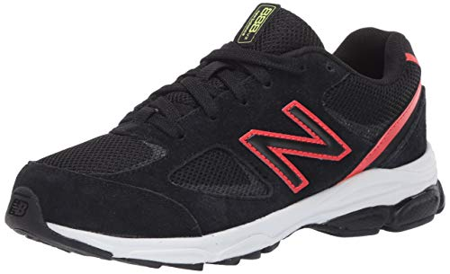 New Balance Kid's 888 V2 Lace-Up Running Shoe, Black/Neo Flame, 7 W US Toddler