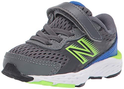 New Balance Kid's 680 V6 Alternative Closure Running Shoe, Lead, 10 M US Toddler
