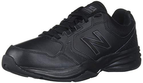 New Balance Men's 411 V1 Walking Shoe, Black/Black, 12 XW US