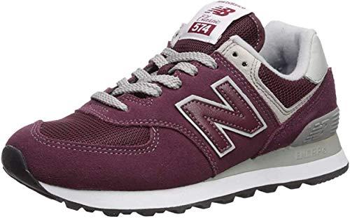 New Balance Women's 574 V2 Evergreen Sneaker, Burgundy/White, 8 M US