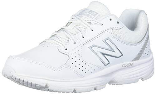 New Balance womens 411 V1 Walking Shoe, White/White, 8.5 Wide US
