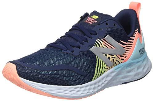 New Balance Women's Fresh Foam Tempo V1 Running Shoe, Natural Indigo/Ginger Pink/Lemon Slush, 7.5 M US