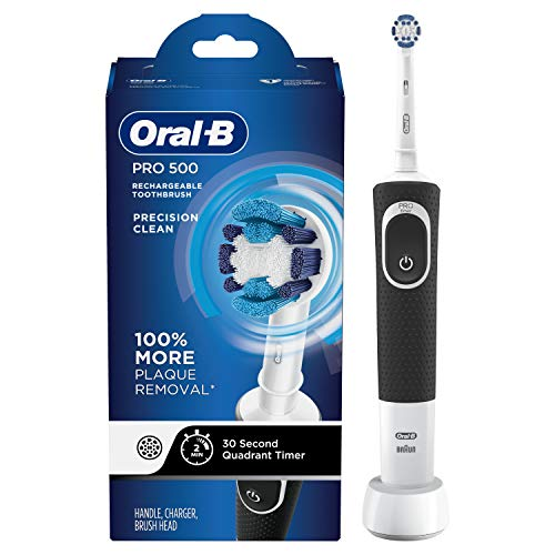 Oral-B Pro 500 Electric Power Rechargeable Toothbrush with Automatic Timer and Precision Clean Brush Head