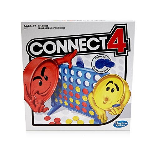 Connect 4 Strategy Board Game for Ages 6 and Up (Amazon Exclusive)
