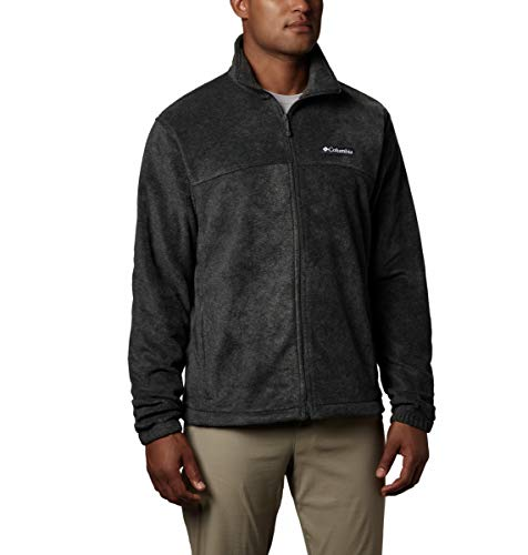 Columbia Men's Steens Mountain 2.0 Full Zip Fleece Jacket, Charcoal Heather, Large