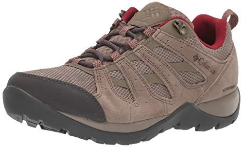 Columbia Women's Redmond V2 Waterproof Hiking Shoe, Pebble/Beet, 9.5 Regular US