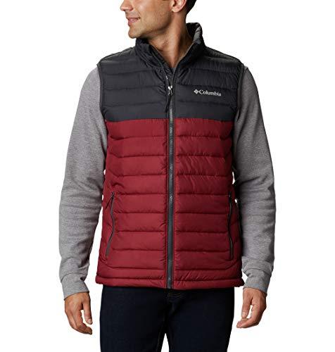 Columbia Men's Powder Lite Vest, Red Jasper/Shark, Medium