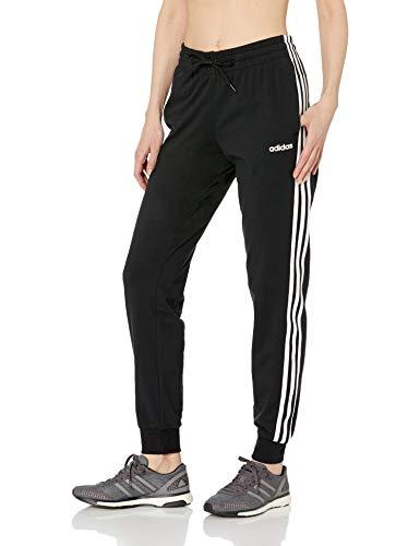 adidas Women's Essentials 3-Stripes Pants, Black/White, M