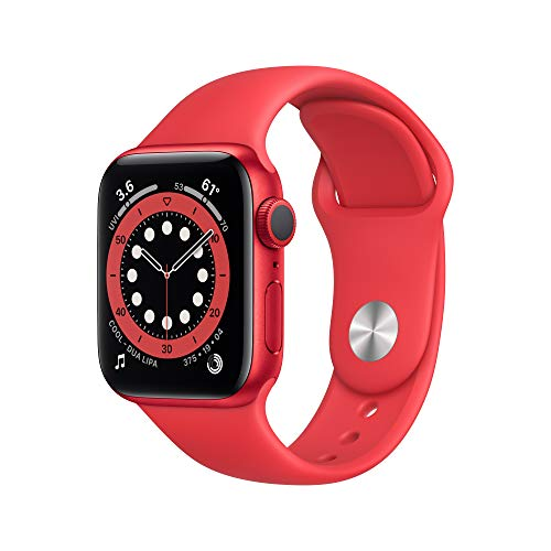 AppleWatch Series 6 (GPS, 40mm) - (PRODUCT)RED Aluminum Case with (PRODUCT)RED Sport Band
