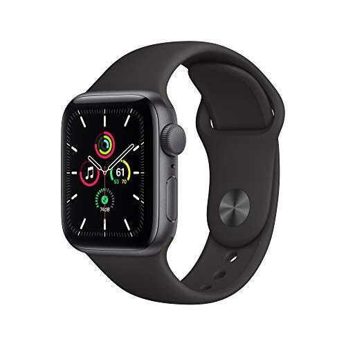 New Apple Watch SE (GPS, 40mm) - Space Gray Aluminum Case with Black Sport Band