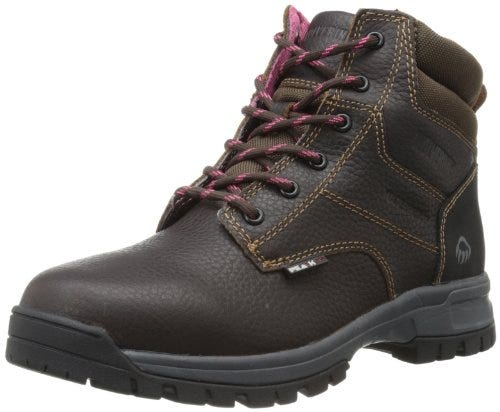WOLVERINE Women's Piper Comp Safety Toe Work Boot, Brown, 8 M US