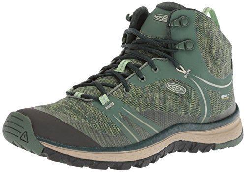 KEEN womens Terradora Mid Wp-w Hiking Boot, Duck Green/Quiet Green, 5.5 US