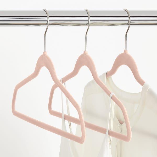 Blush Premium Non-Slip Velvet Suit Hangers Case of 40