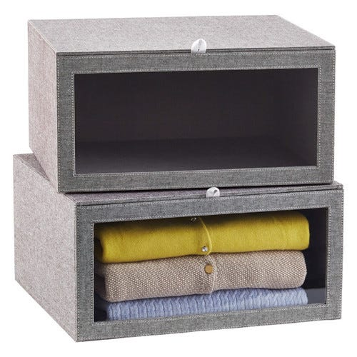 Grey Cambridge Drop-Front Sweater Box