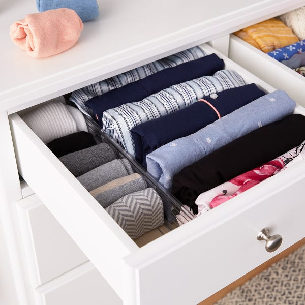 Clear Expandable Drawer Dividers Set of 2