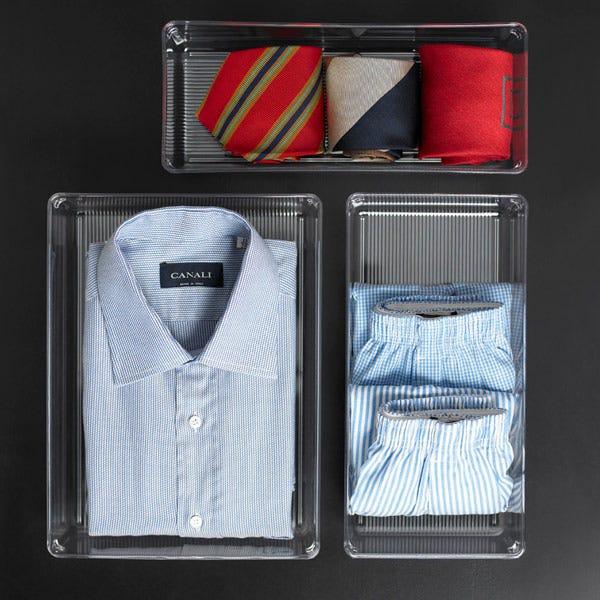 Linus Small Closet Drawer Organizer Clear