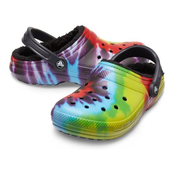 Crocs Classic Tie Dye Adult Lined Clogs