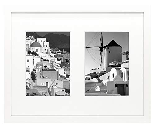 Golden State Art 11x14 White Wood Frame with White Mat