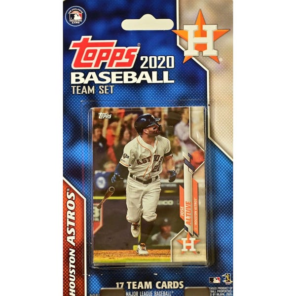 Houston Astros 2020 Team Card Set