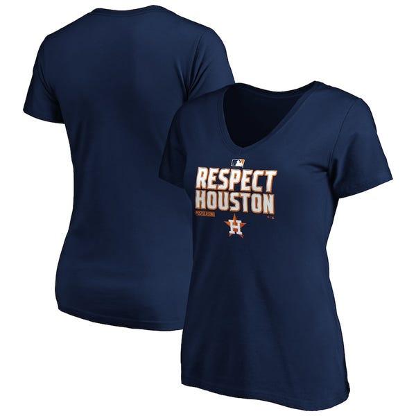 Houston Astros Fanatics Branded Women's 2020 Postseason Locker Room V-Neck T-Shirt - Navy