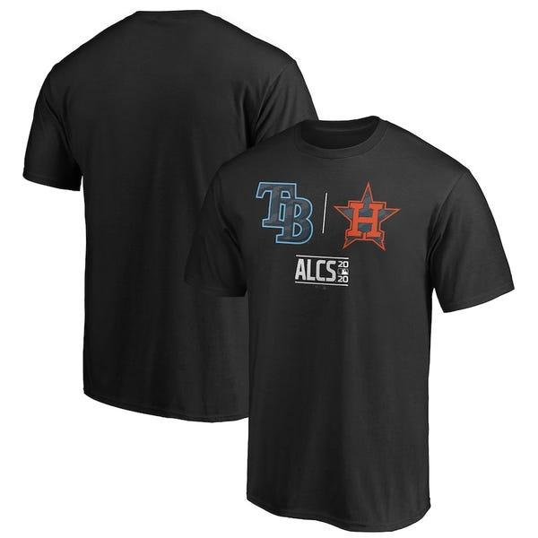 Tampa Bay Rays vs. Houston Astros Fanatics Branded 2020 ALCS Matchup Batters Box T-Shirt - Black