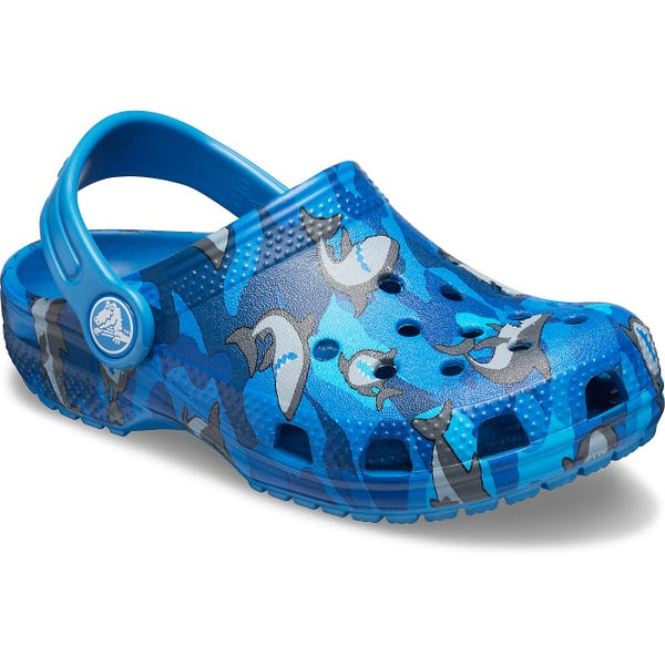 Crocs Boys' Classic Shark Clog Casual Shoes