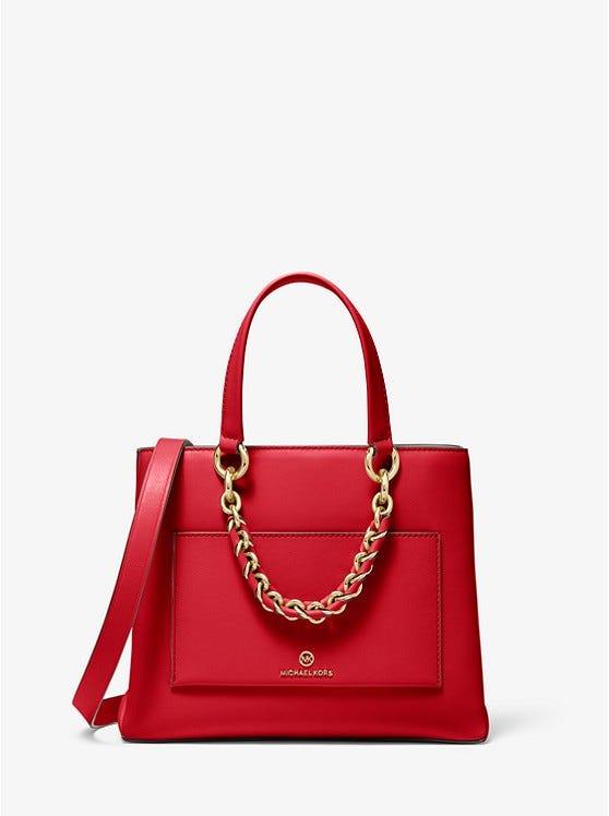 Cece Small Leather Chain Messenger Bag