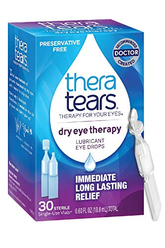 TheraTears Eye Drops for Dry Eyes, Dry Eye Therapy Lubricant Eyedrops