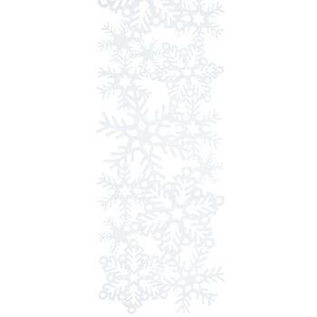 White Snowflakes Table Runner