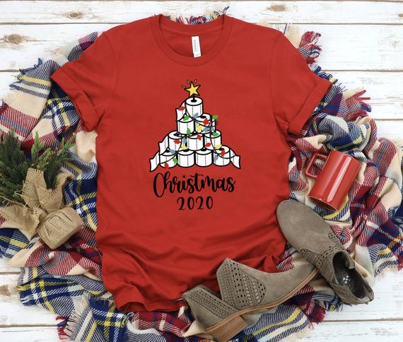 Christmas shirt for women, Christmas 2020 Quarantine Shirt, Matching Family Pajama Shirts