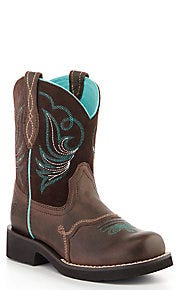 Ariat Youth Fudge Brown Fatbaby Round Toe Boots