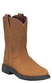 Ariat Men's Sierra Aged Bark Round Steel Toe Work Boot