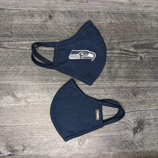 Individually Wrapped Reusable Tri-Layer Cloth Seahawks Masks