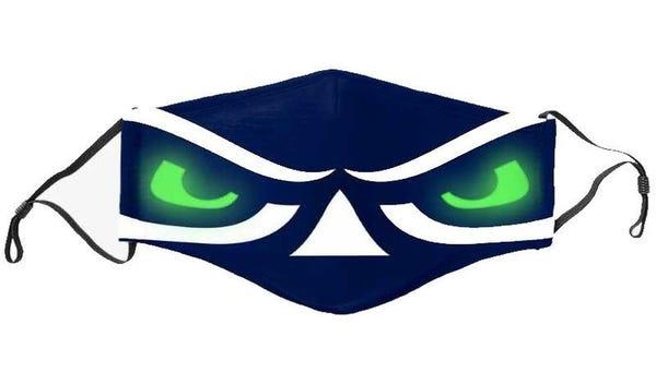 Hawks Eyes Face Mask - w/Free Gray Adult Mask