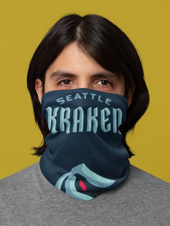 Face Covering / Gaiter Mask: Seattle Kraken - NHL