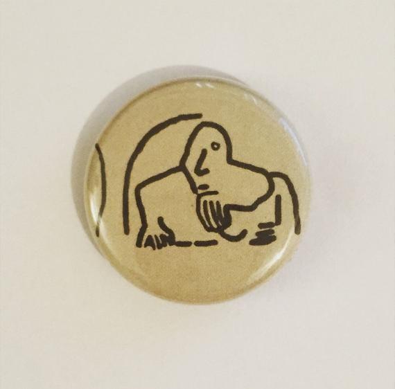 Fremont Troll Seattle Washington 1 inch Button Pin Souvenir