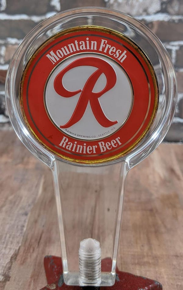 Rainier Beer Lucite Tap Handle