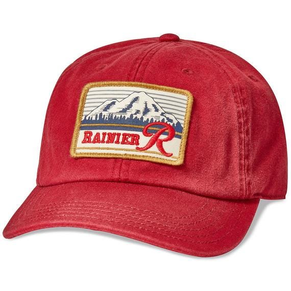 Rainier Beer Hepcat Slouch Cap by American Needle