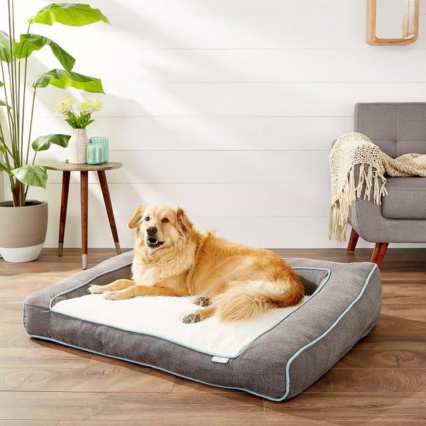 Frisco Plush Orthopedic Bolster Dog Bed