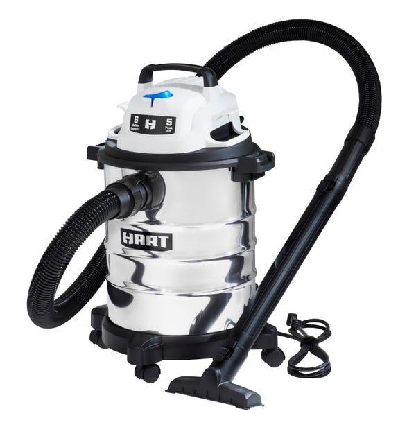 Hart 6 Gallon Stainless Steel Tank Wet/Dry Vacuum