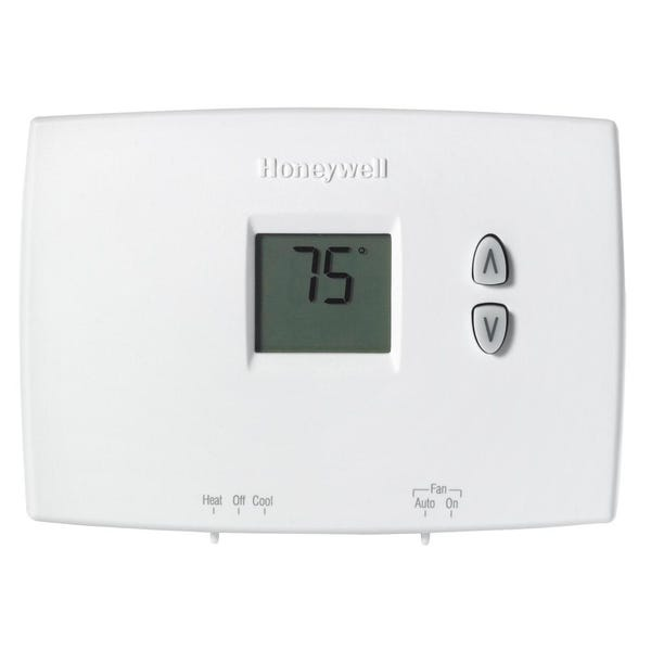 Horizontal Non-Programmable Thermostat with Digital Backlit Display
