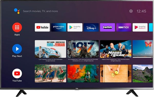 """TCL - 75"""" Class 4 Series LED 4K UHD Smart Android TV"""