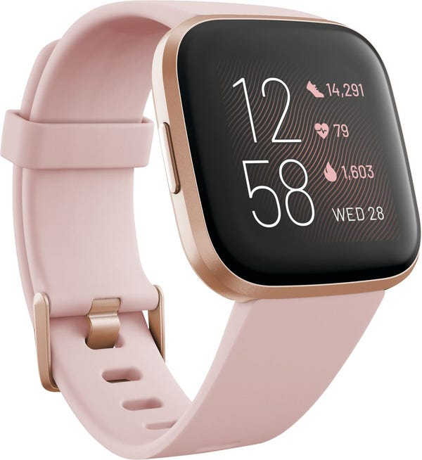 Fitbit Versa 2 Smartwatch 40mm Aluminum - Petal/Copper Rose with Silicone Band