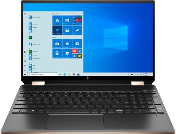 "HP Spectre x360 2-in-1 15.6"" 4K Ultra HD Touch-Screen Laptop - Intel Core i7 - 16GB Memory - 512GB SSD - Nightfall Black"