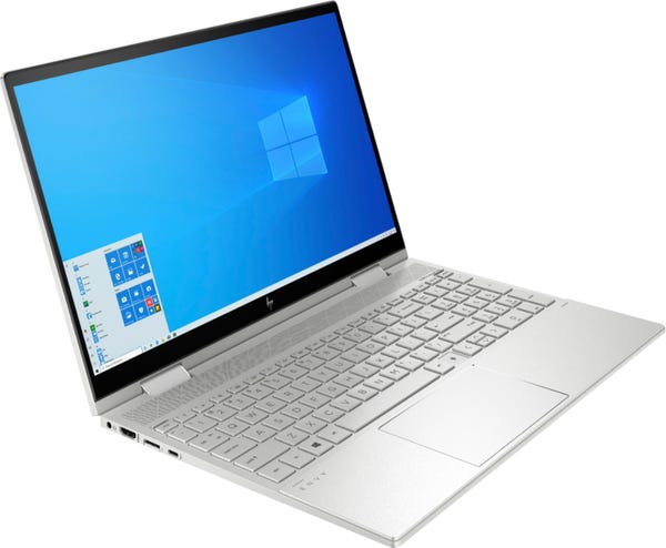 """HP - ENVY x360 2-in-1 15.6"""" Touch-Screen Laptop - Intel Core i7 - 12GB Memory - 512GB SSD - Natural Silver"""