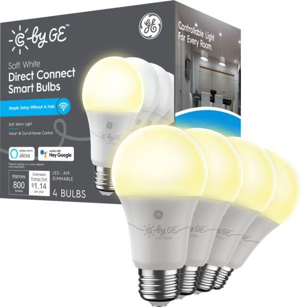 C by GE Soft Direct Connect Light Bulbs (4 A19 Smart LED Light Bulbs)